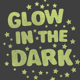 glow in the dark ink tshirt sample