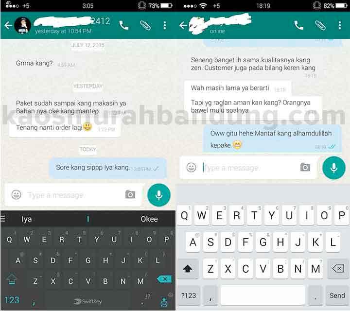testimoni kaos murah bandung Whatsapp