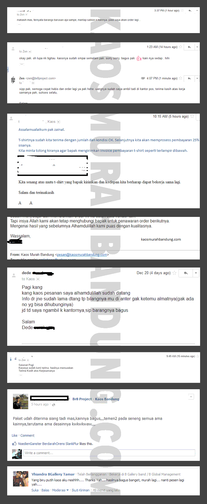 testimoni kaos murah bandung via email