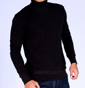 kaos turtleneck hitam