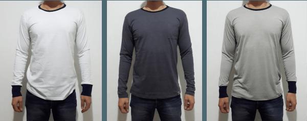 Kaos Polos Lengan Panjang Model Ringer Kaos Murah Bandung