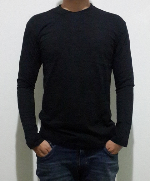 lengan panjang hitam Kaos Murah Bandung