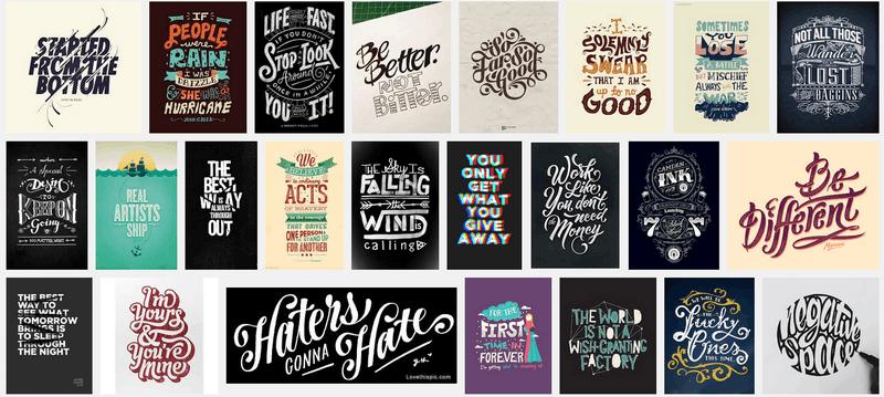 desain kaos typography