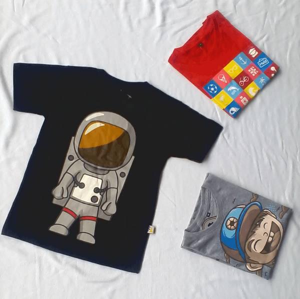 jual kaos anak gambar astronot