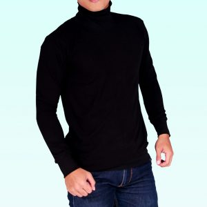 turtleneck hitam